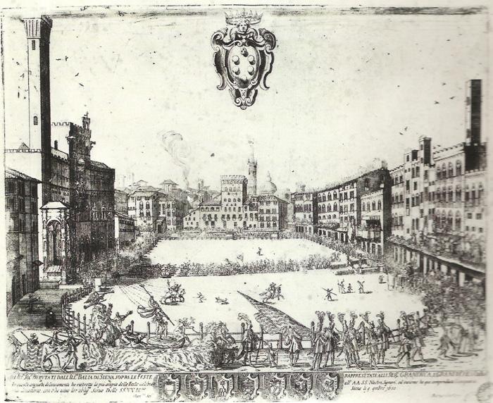 "B. Oppi, ""Bufalata del 3 novembre 1650"", acquaforte"